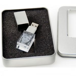 Individueller USB Stick als Glasfoto