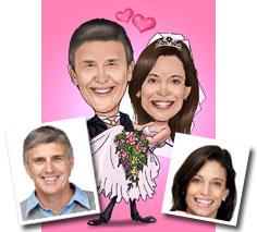 Karikatur Hochzeit